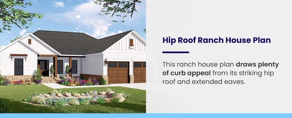 Hip Roof Ranch House Plan